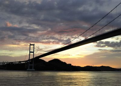Sunset on the Shimanami Kaido