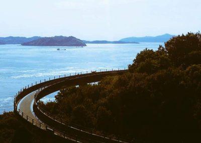 Road to the Shimanami Kaido bridge