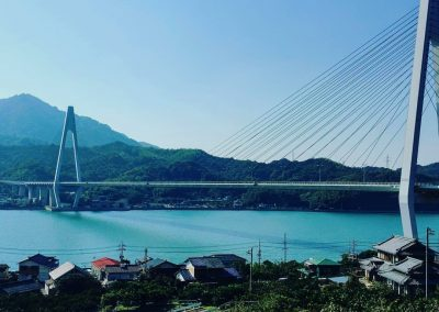 View of bridge on the Shimanami Kaido