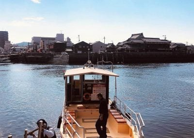 Boat in Japan, travel to rural Japan