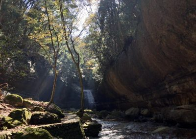 A wild gorge near Matsuyama Shikoku