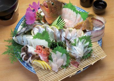 Traditional Japanese food on the Shimanami Kaido