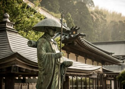 A statue at a Buddhist temple on Shikoku