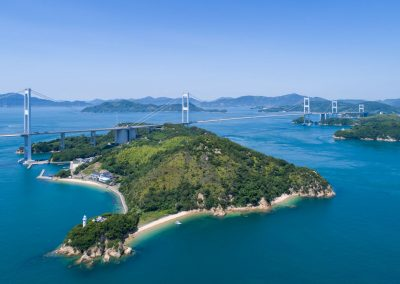 Aerial view of the Shimanami Kaido